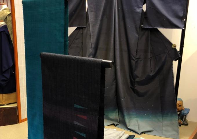 「小山憲市紬展」明日は柳橋で開催します。
