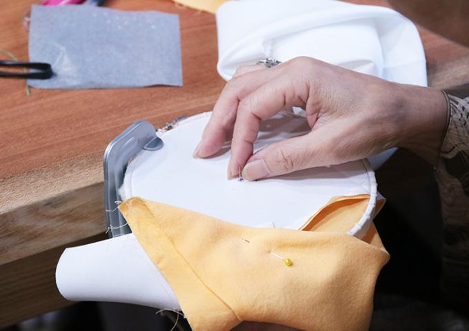半衿刺繍ワークショップ