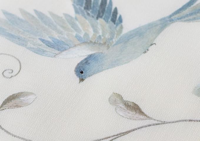 泥・藍・白_大島紬「織で描く」終了いたしました