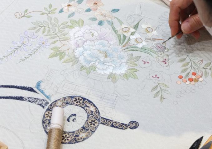 刺繍作家_飯島桃子「糸で描く」終了いたしました